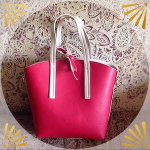 Purse, reversible red or gold